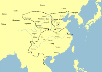 Liang dynasty - Liang and neighbors