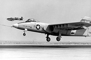 Northrop YA-9 - Northrop's YA-9; note the offset forward landing gear