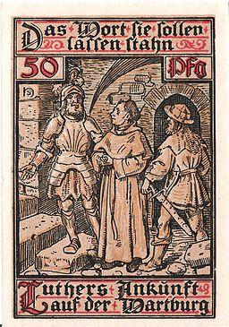 Notgeld Eisenach - Luther auf Wartburg 5