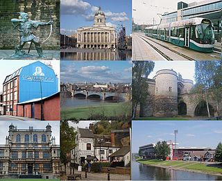Nottingham City and unitary authority area in England