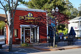 Novato, California - Doctor Insomniac's Coffee, a Historic Landmark. on Grant Avenue.
