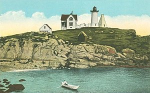 York, Maine - Cape Neddick Light c. 1920