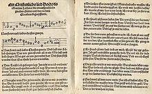 """""""Nun freut euch, lieben Christen g'mein"""" im Achtliederbuch (Quelle: Wikimedia)"""