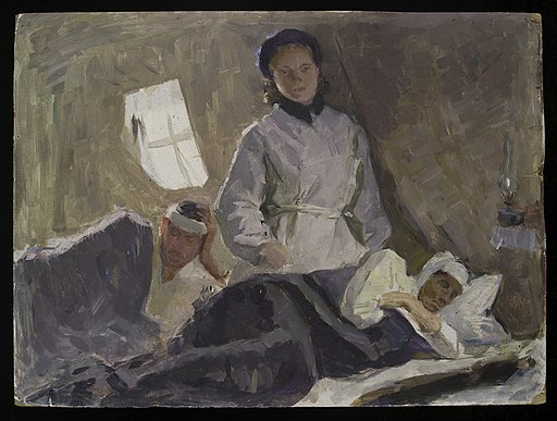 Nurse attending wounded in Soviet military hospital, 1962 Wellcome L0036001
