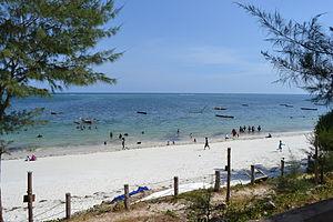 Nyali Beach from the Reef Hotel during high tide in Mombasa, Kenya 23.jpg