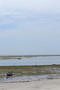 Nyali Beach from the Reef Hotel during low tide in Mombasa, Kenya 8.jpg