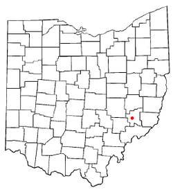Location of Caldwell, Ohio
