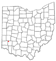 Location of Franklin, Ohio