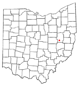 Location of Port Washington, Ohio