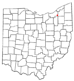 Location of Solon in Ohio
