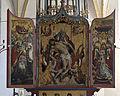 Obermenzing - Schloss Blutenburg - Kapelle - Panorama Altar (quer - 3 Bilder).jpg