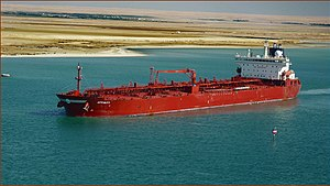 Oil products tanker Affinity transits the Suez Canal - 3 Dec. 2011.jpg