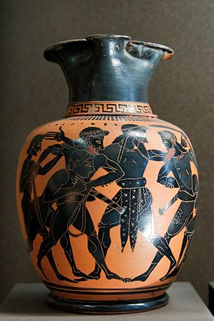 Dispute between Ajax and Odysseus for Achilles...