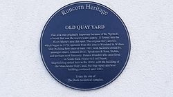 Old quay yard plaque