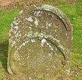 Old gravestone, Dunscore Old Kirk.JPG