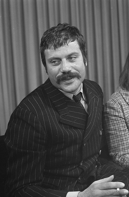 Oliver Reed, who was born in Wimbledon, as seen in 1968 Oliver Reed 1968.jpg