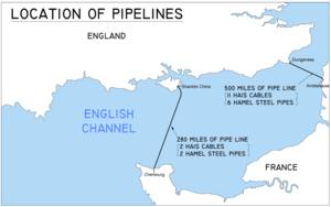 Kent Refinery - DUMBO pipeline in 1944