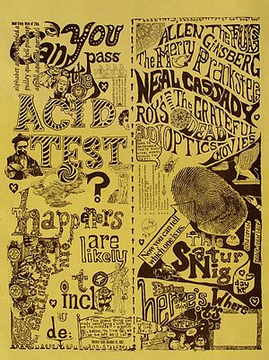 Acid Tests - An Acid Test handbill