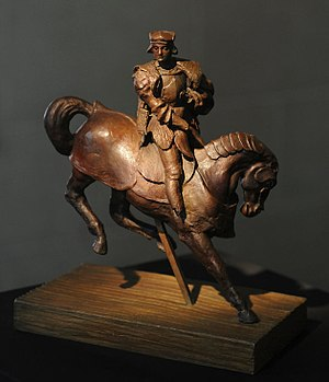 Horse and Rider (Leonardo da Vinci) - 2012 bronze casting of Leonardo da Vinci's Horse and Rider.
