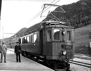 Thamshavn Line - A railcar at Orkanger Station