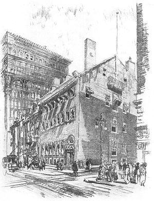 Philadelphia Club - The Philadelphia Club (1912) by Joseph Pennell