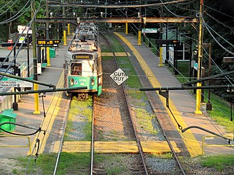 Waban station - Waban station in September 2015