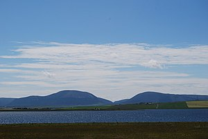 Loch of Stenness - Looking over the Loch of Stenness towards Hoy