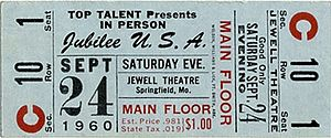 Ozark Jubilee - Ticket for the final Jubilee USA