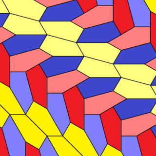 Pentagonal tiling a tiling of the plane by pentagons