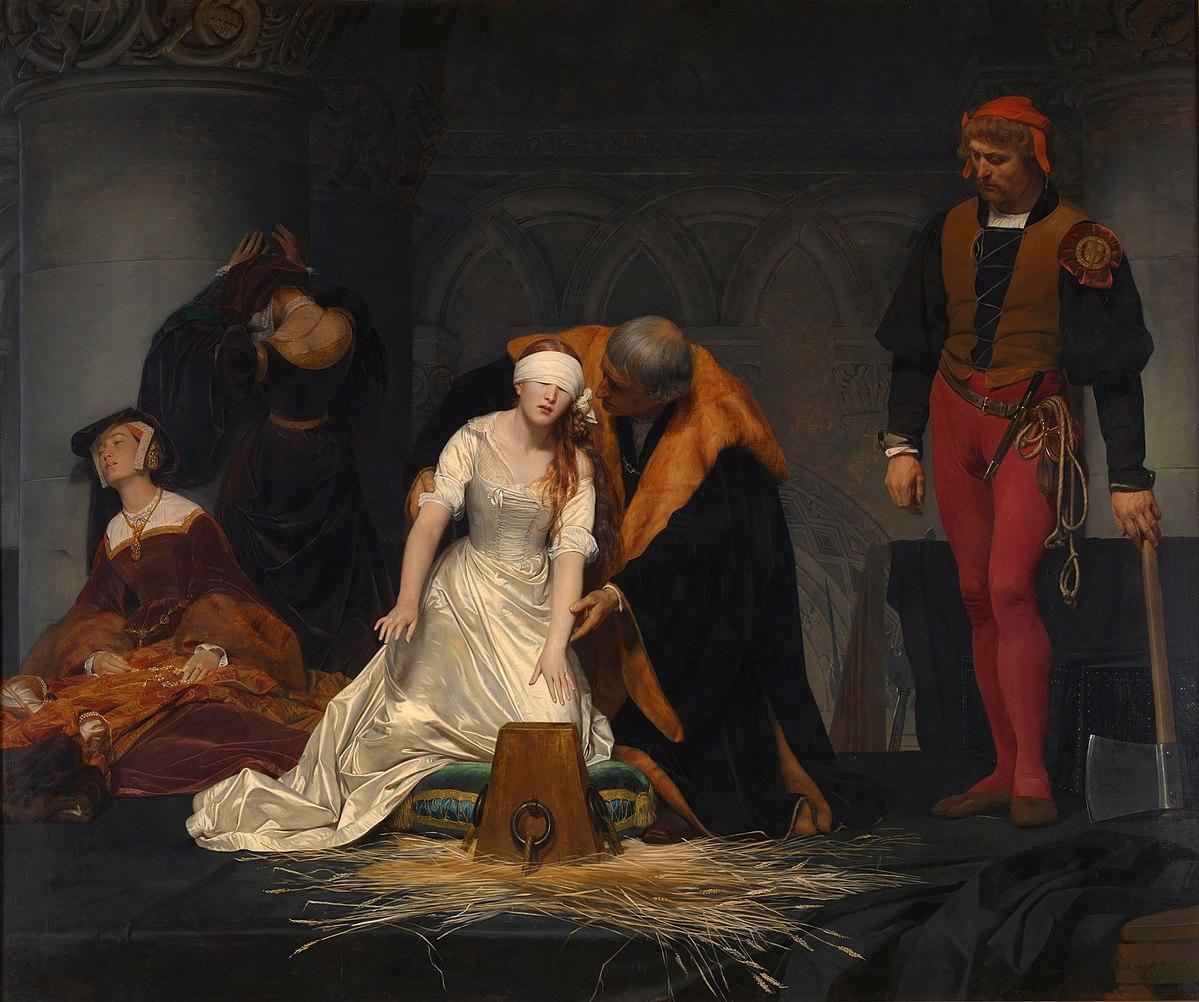 PAUL DELAROCHE - Ejecucion de Lady Jane Grey (National Gallery de Londres, 1834).jpg