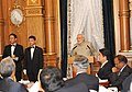 PM Modi at the banquet hosted by the PM Abe, at the Akasaka Palace.jpg