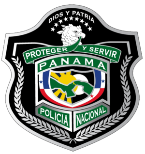 Law enforcement in Panama - Image: POLICIA NACIONAL DE PANAMA LOGO v 2011