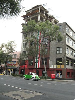 Labor Party (Mexico) - National Executive Committee's offices of the Labor Party, located at Avenida Cuauhtemoc 47 in Mexico City.
