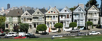 English: Painted Ladies, Alamo Square, San Fra...
