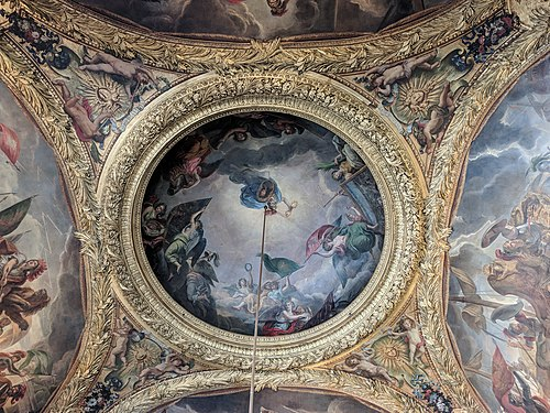 Painting in the ceilings in the Palace of Versailles.jpeg