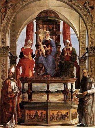 Santa Maria in Porto Altarpiece - Image: Pala d santa maria in porto, ercole de' roberti
