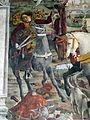 Palazzo schifanoia, salone dei mesi, 03 marzo (f. del cossa), borso alla caccia e amministrat. di giustizia 08.JPG
