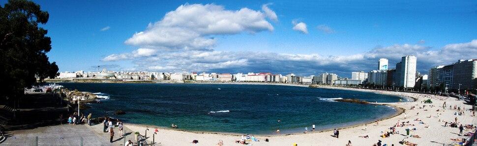 Panorámica desde el paseo marítimo, Rizor, A Coruña