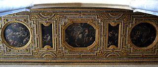dipinti del soffitto della chiesa di San Pietro a Majella