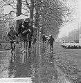 Pasen 1965, touristen op Keukenhof met paraplus gewapend, Bestanddeelnr 917-6621.jpg