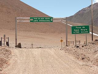 Agua Negra Pass mountain pass between Chile & Argentina