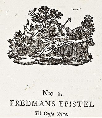 Fredmans epistlar - Pastoral head-piece engraving in the first edition