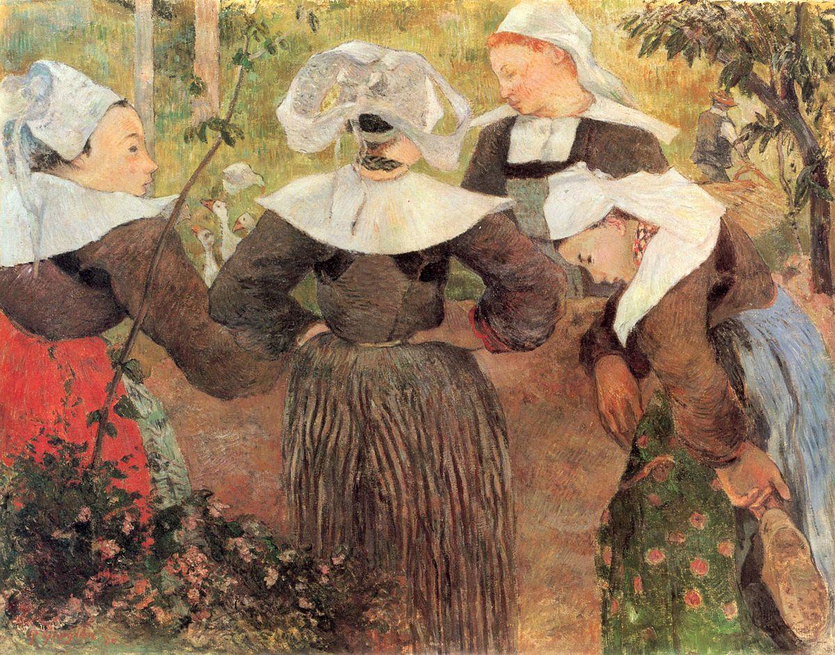 ポール・ゴーギャン『四人のブルターニュの女の踊り』