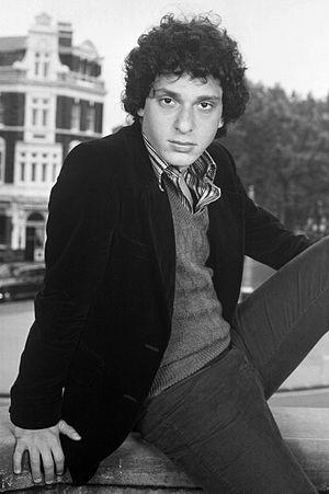 Paul Jabara - Jabara on balcony of the Palace Theatre, London in 1972