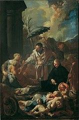 Der heilige Franz Xaver unter den Pestkranken in Goa