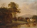 Paulus Potter - Evening Landscape with Cattle and Peasants Dancing to the Sound of a Pipe GMIII MCAG 1979 493.jpg