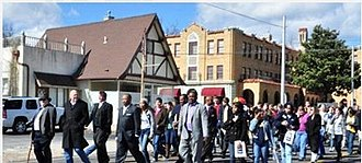 Harrison, Arkansas - Peace March in Harrison displaying love for diversity in the city.