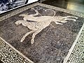Pebble mosaic pavement from the Dionysos House, God Dionysos on a panther and griffin, 325-300 BC, Archaeological Museum, Pella (6919182334).jpg