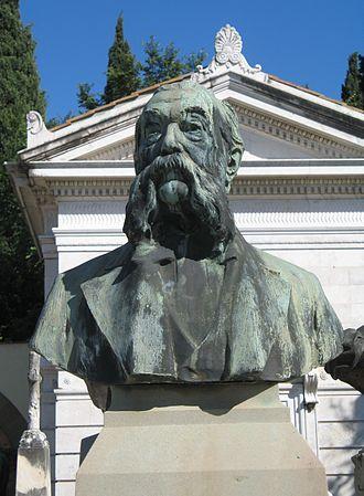 Pellegrino Artusi - Bust of Pellegrino Artusi by sculptor Italo Vagnetti at the Porte Sante cemetery in Florence.