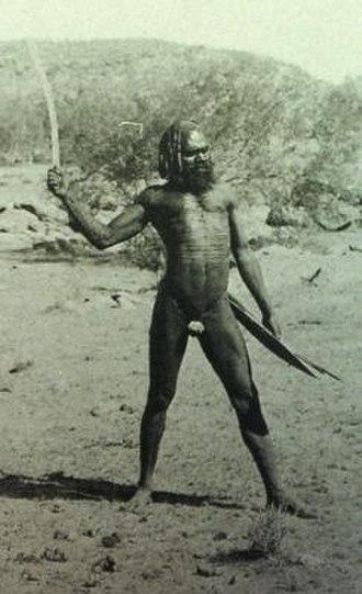 Australian frontier wars - Aboriginal warrior